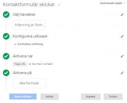 Konfigurering av formulär-trigger