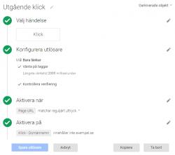 Konfiguration av trigger för utgående klick