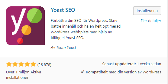 Yoast SEO Installering i WordPress