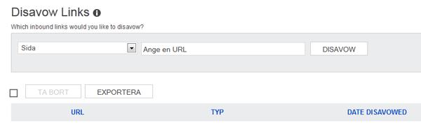Ignorera externa länkar i Bing Webmaster Tools