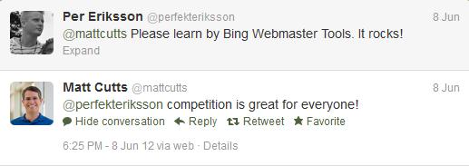 Matt Cutts gillar konkurrens