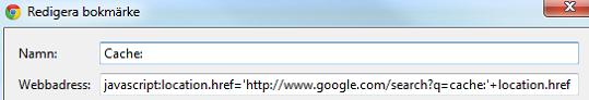 Cache: sökning på Google
