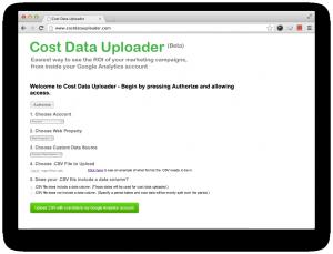 Cost data uploader