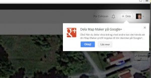 Map Maker med Google Plus