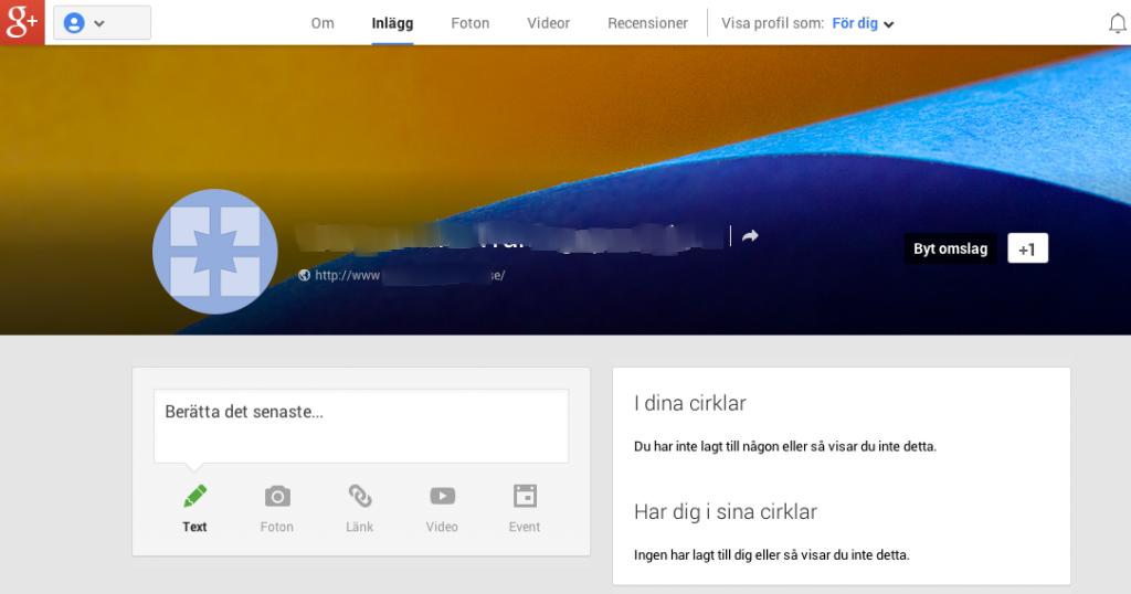 Din sida på Google+