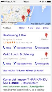 lokalt sök - mobil