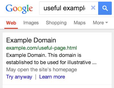 Google varnar för felaktiga ompekningar