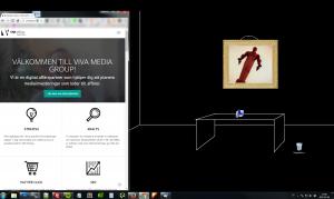 Dra jag ihop webbläsarens fönster så skalas sidan ner och anpassas till skärm storleken.