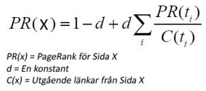 Algoritmen för Google PageRank
