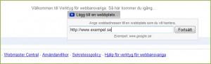 Verifiering av Google Webmaster Tools