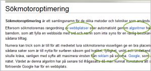 Interna länkar på Wikipedia