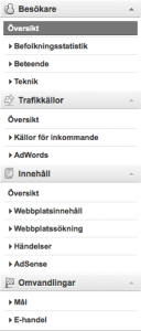 Ny meny i Google Analytics