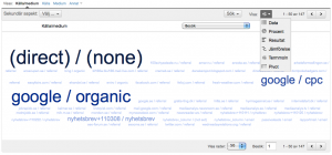 Termmoln eller Tag Cloud i Google Analytics