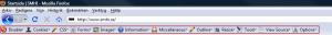 Web developer meny