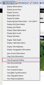 Web Developer - Display headings