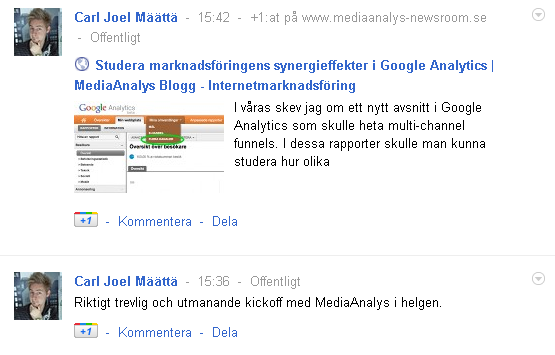 Google plus flöde