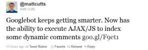 Google indexerar AJAX/JS