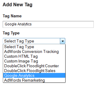 Add new tag - Google Tag Manager